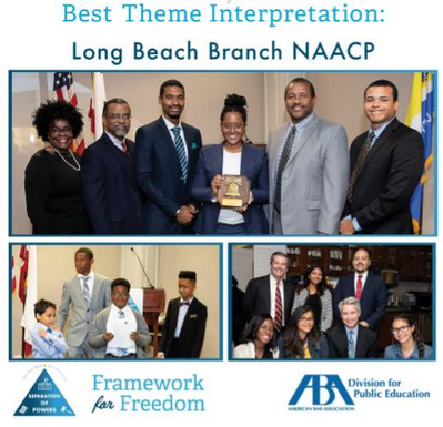 The Long Beach Branch NAACP was the ABA Law Day Outstanding Activity Award Recipient