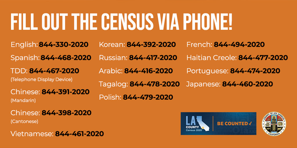 Fill Out the Census By Phone