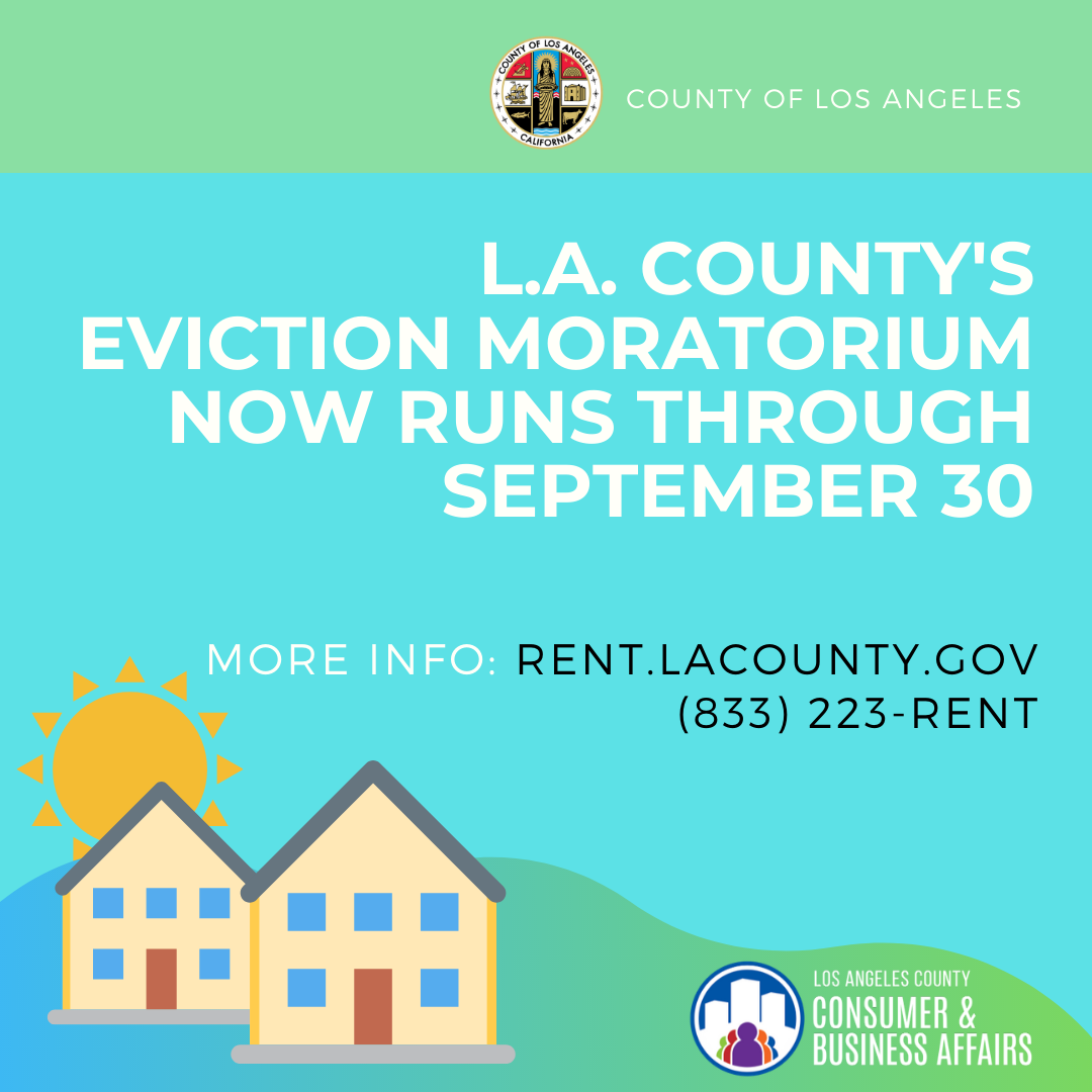 L.A. County's Eviction Moratorium Now Runs Through September 30