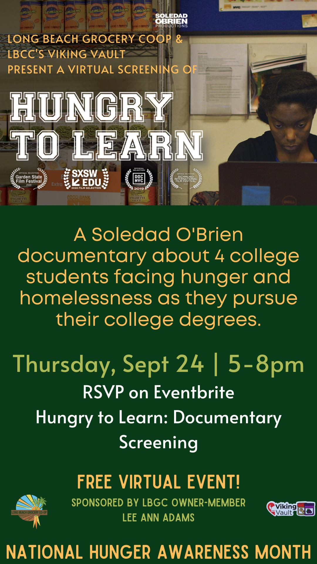 Hungry to Learn Documentary Screening