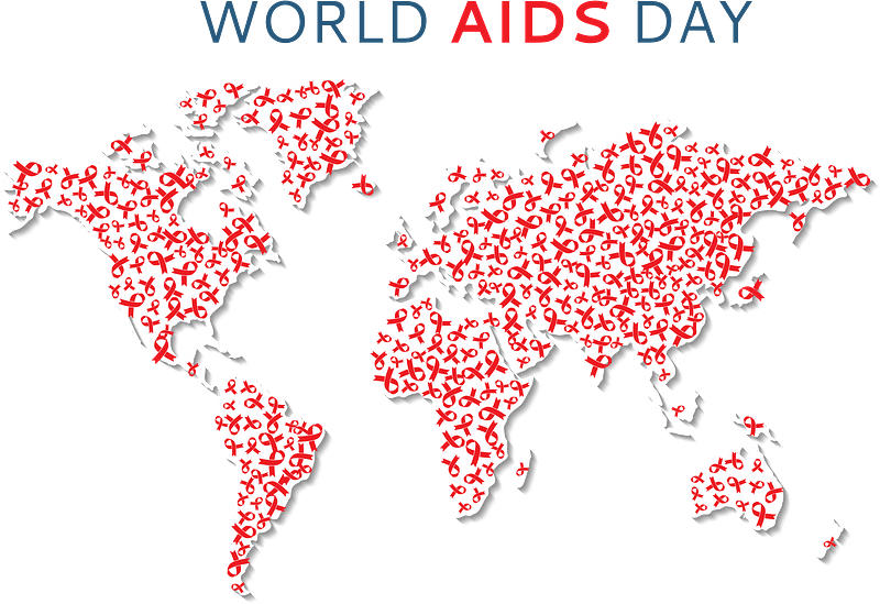World AIDS Day World Map