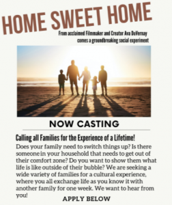 """Audition to Be on New TV Show """"Home Sweet Home""""!"""