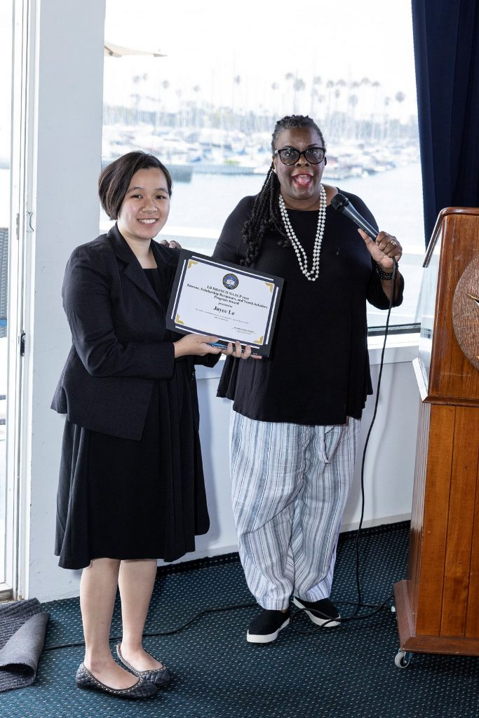 Joyce Le was recognized and introduced as the new LB NAACP Intern and Administrative Assistant to the President.