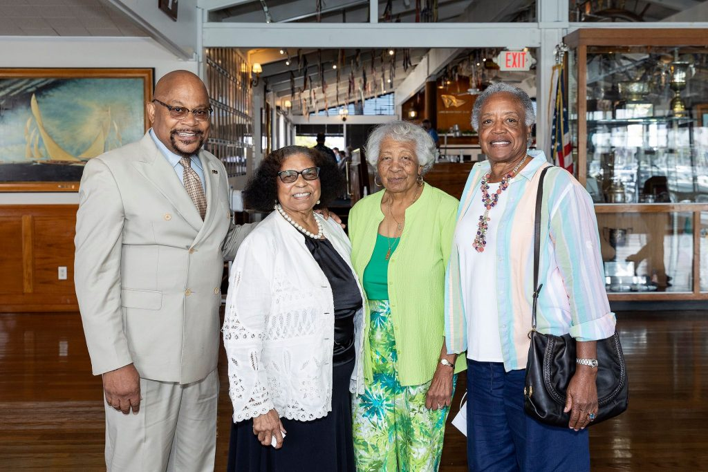 Jesse Johnson LB Branch NAACP third Vice President with Dr. Minnie Douglas, LB NAACP Secretary Marie Treadwell, and Branch Volunteer Millie Whisenton.