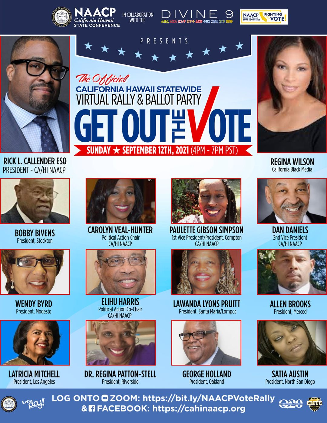 NAACP voting event flyer